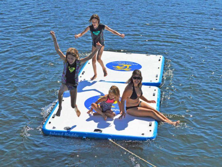2 island buddy swim platforms together