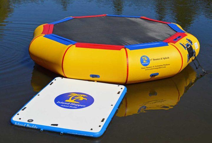 water trampoline attachment