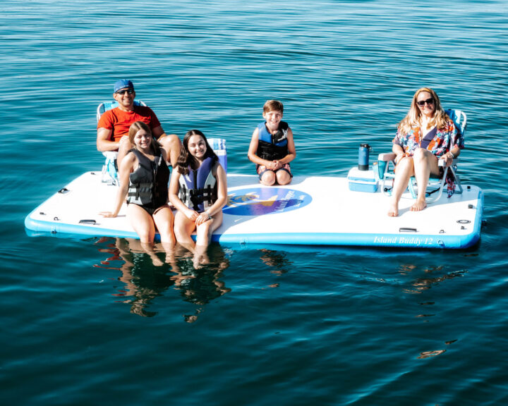 12 foot island buddy water platform for large families