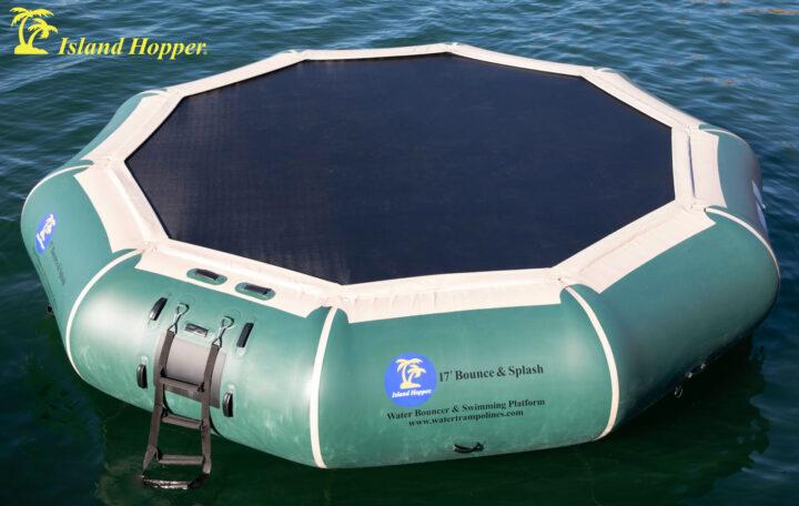 17 foot bounce n splash natural green water bouncer