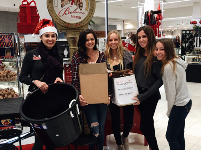 PVHS Project Runway club members at Macy's Believe Campaign December 2016