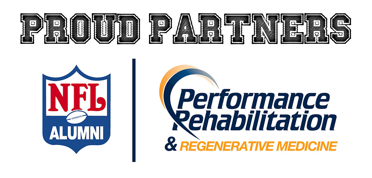 Partner Logos of NFL Alumni and Performance Rehabilitation