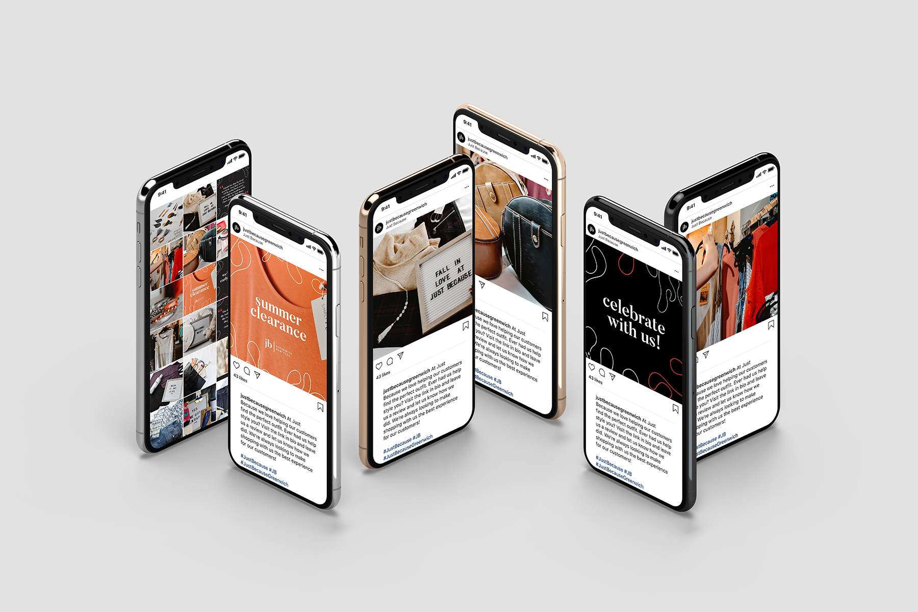 content agency social media posts on iPhones