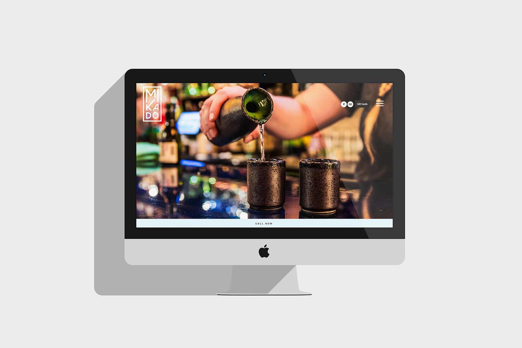 Image of website design on iMac