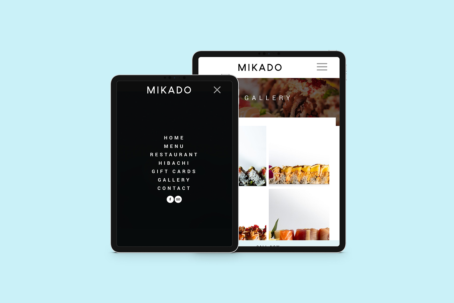 Responsive website design on iPad