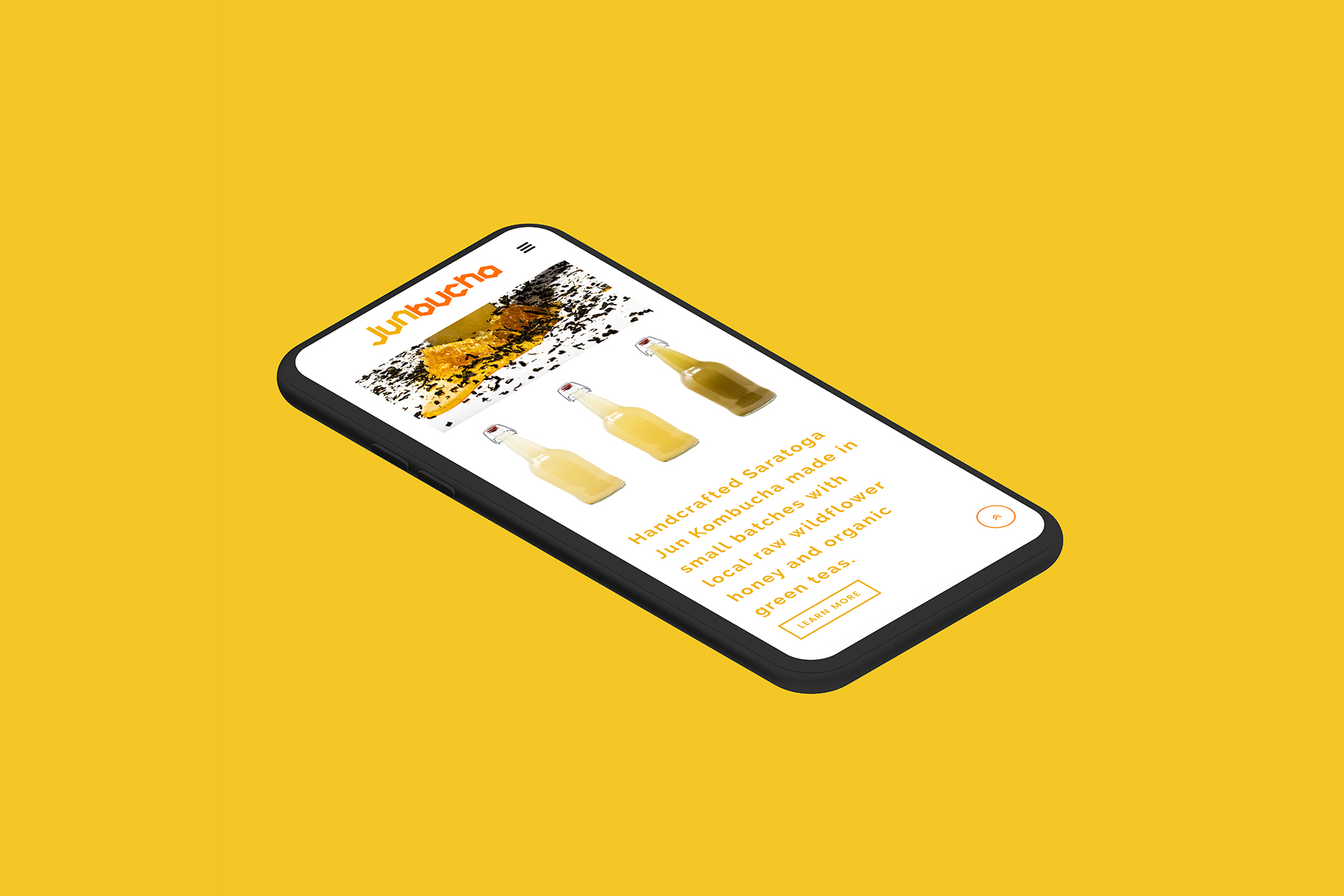 Mobile optimized website on iPhone