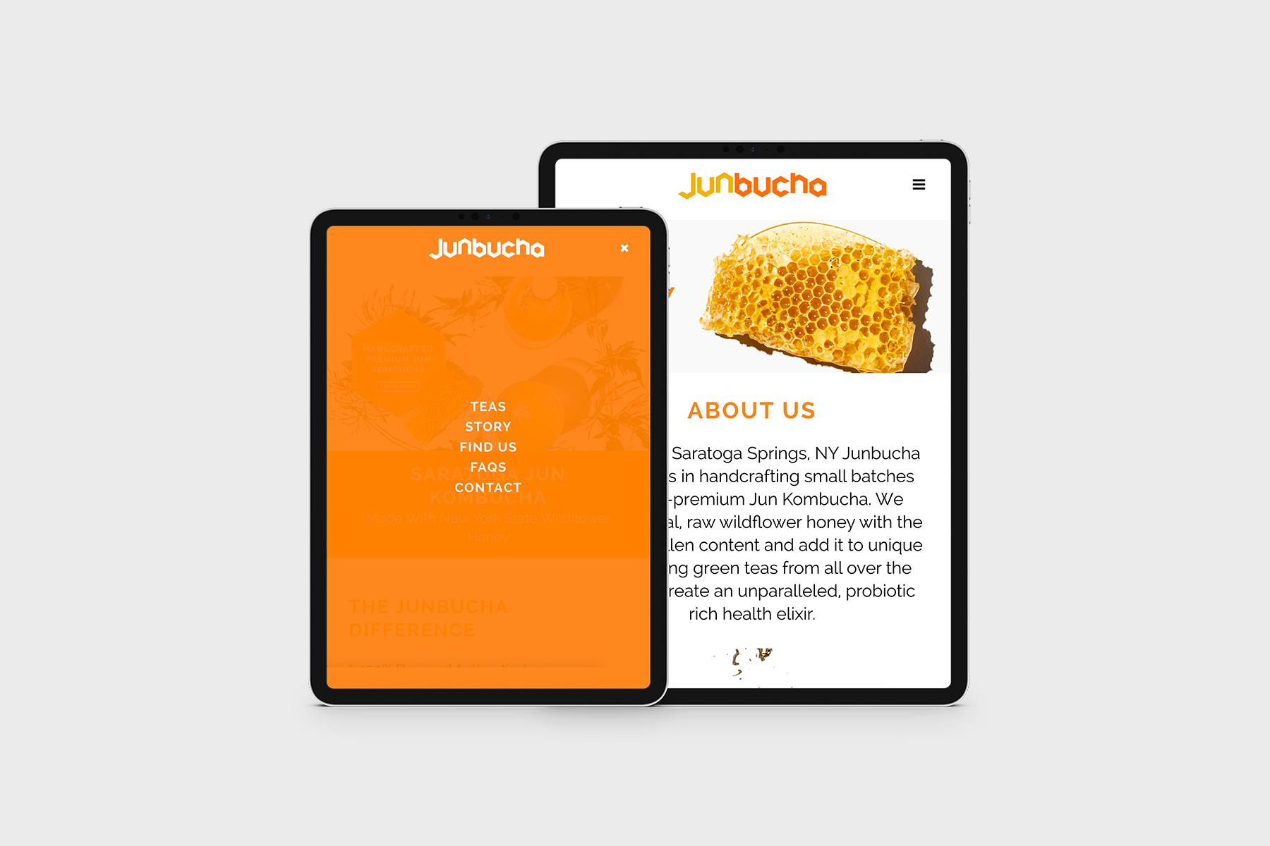Website design on iPads
