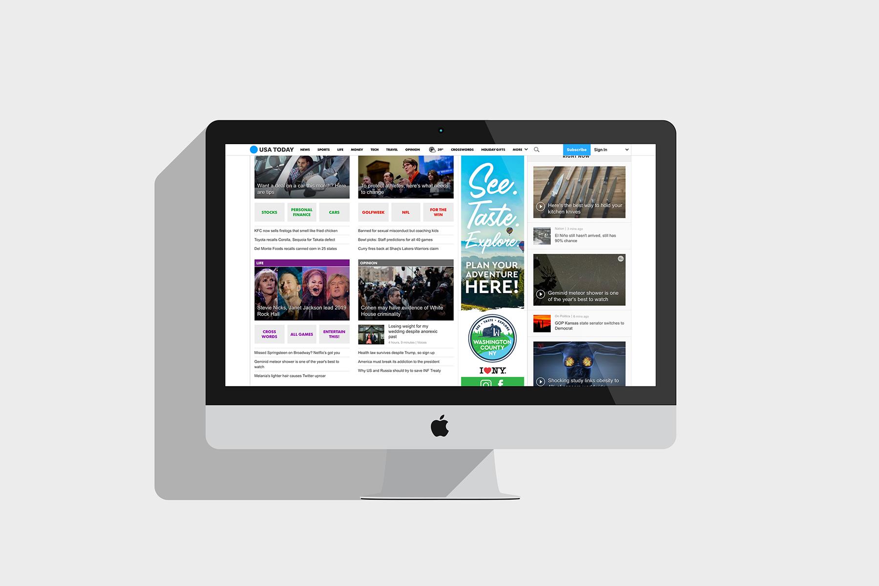 Marketing Content on Website