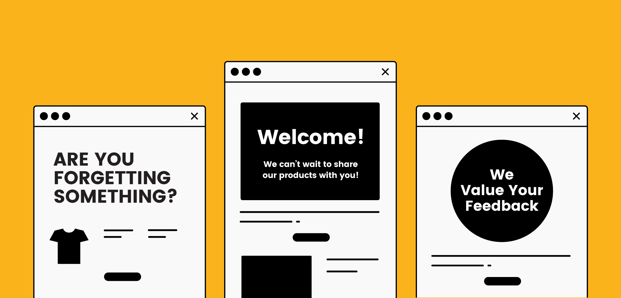 Automated emails for marketing to customers