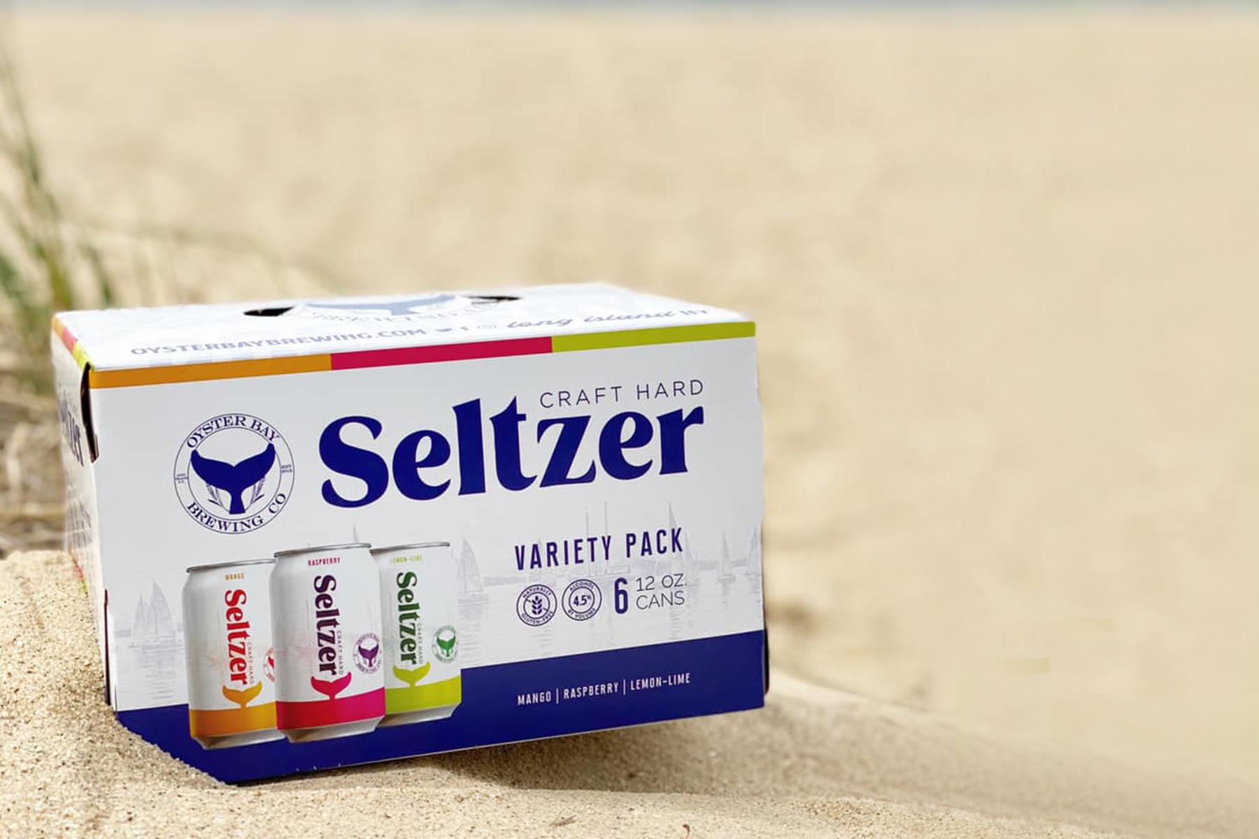 oyster bay brewing seltzer design