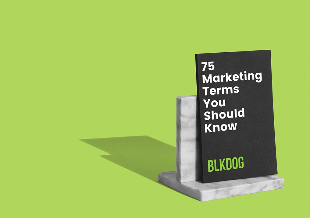 Marketing terms to know book on stand