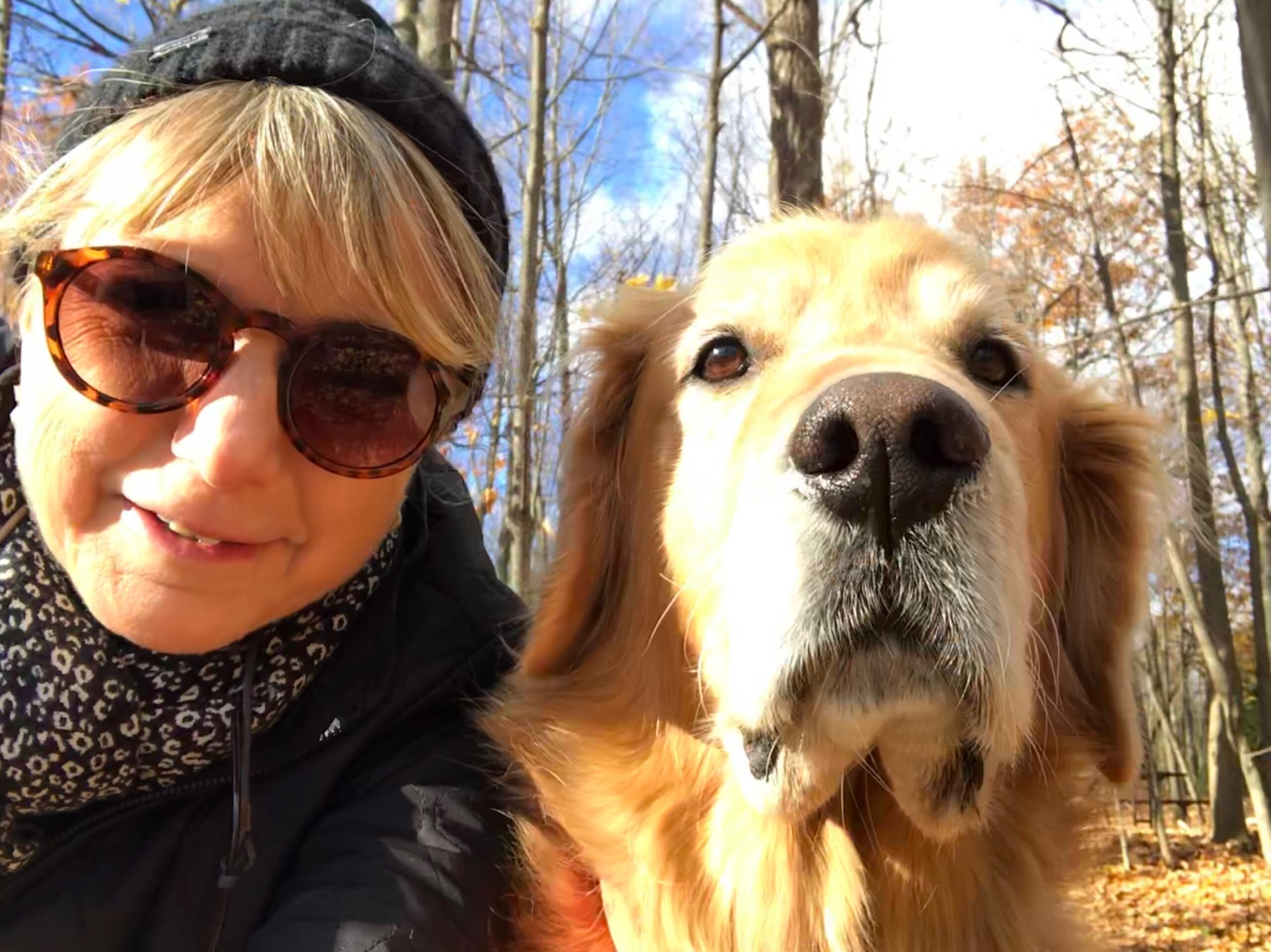 "Laurie & Her Awesome Golden Retriever, ""Cooper"""