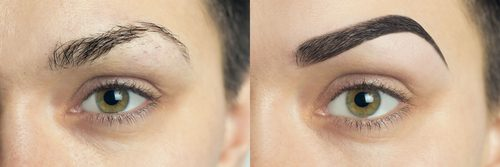 microblading before after brows The Pamper Studio
