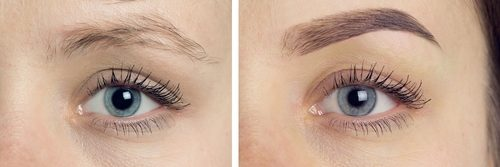 microblading eyebrows by The Pamper Studio