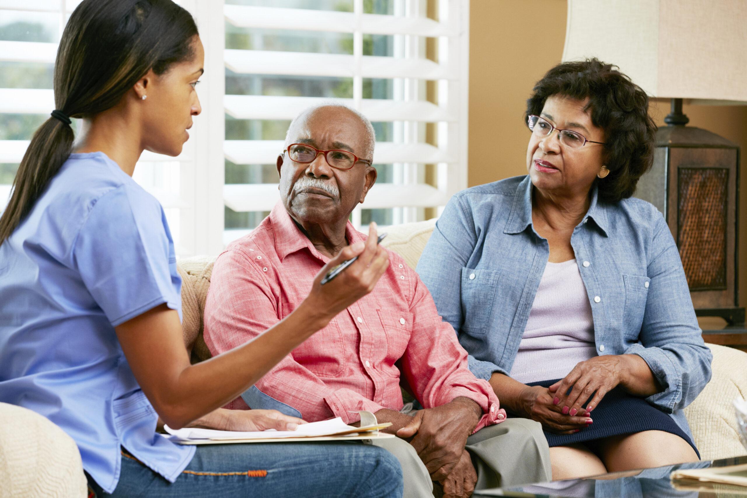 elderly couple and nurse home hospice care in Omaha NE