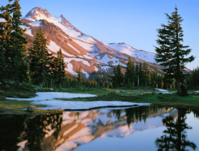Mount Jefferson, Mount Jefferson Wilderness Area, Oregon Cascades, Oregon, copyright 1959 by Philip Hyde.