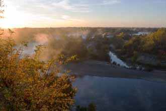Dawn, American River From Fair Oaks Bluffs Near Sacramento, California, copyright 2012 by David Leland Hyde.