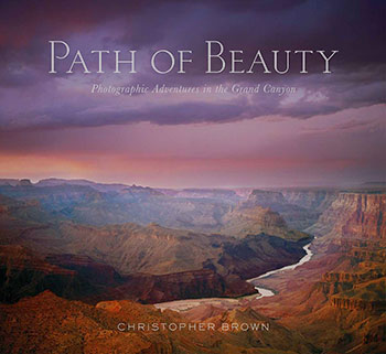 """Path of Light"" Book Cover: ""Colorado River In The Grand Cayon, Grand Canyon National Park, Arizona, copyright Christopher Brown."