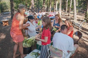 "Mom's Hands Shrivel After Peeling 1000 Ears of Corn, Family Camp, July 4, Watson's Walking ""G"" Summer Camp, Northern Sierra, California by David Leland Hyde (Click on Image to See Larger.)"