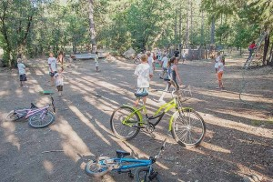 "Family Camp Crazy Chaos Before Dinner, July 4, Watson's Walking ""G"" Summer Camp, Northern Sierra, California by David Leland Hyde (Click on Image to See Larger.)"