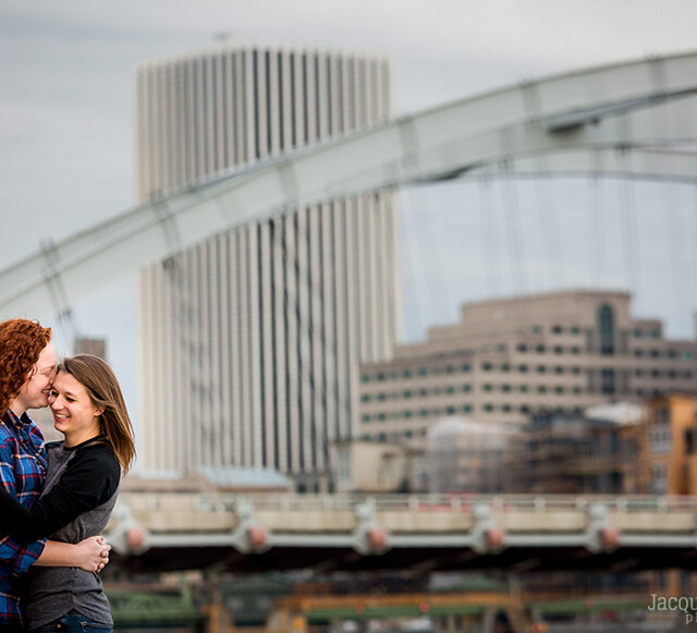 Jacquelyn and Caroline – Corn Hill and Memorial Art Gallery Engagement Session, Rochester NY