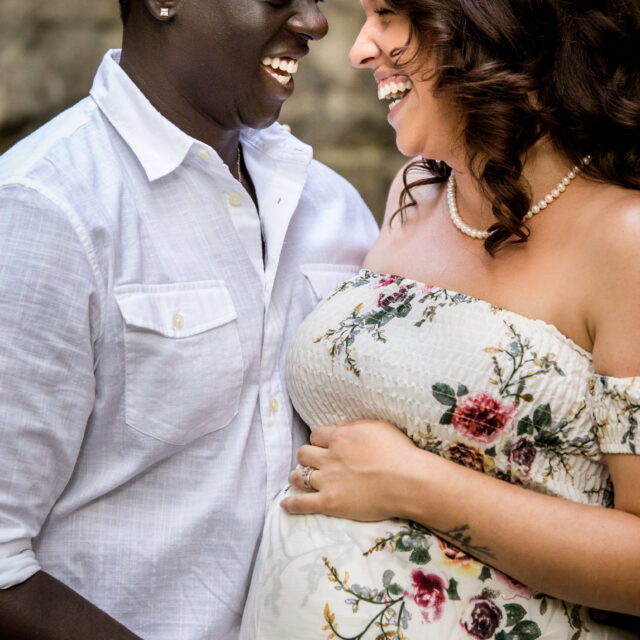Michelle and Anthony – Candid Maternity Photos at Delaware Park, Buffalo NY