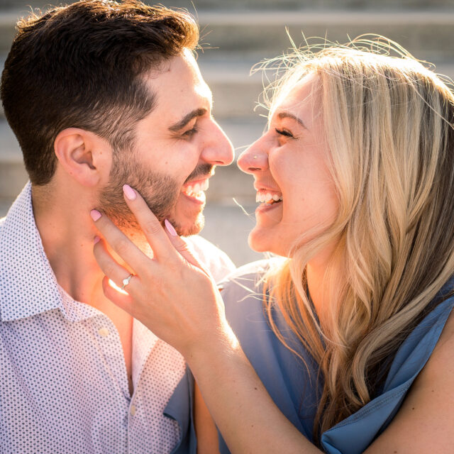 Alie and Christian – A Romantic Delaware Park Engagement Photo Session, Buffalo NY