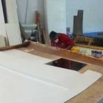 Hard top under construction