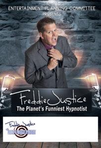 Brick grey Hypnotist Freddie Justice Ent Cmt poster