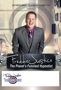 Spiral room Hypnotist Freddie Justice Ent Cmt poster