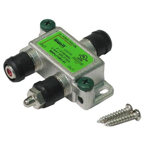 2 Way Splitter, 1 Port Power Pass, 2-2150MHz