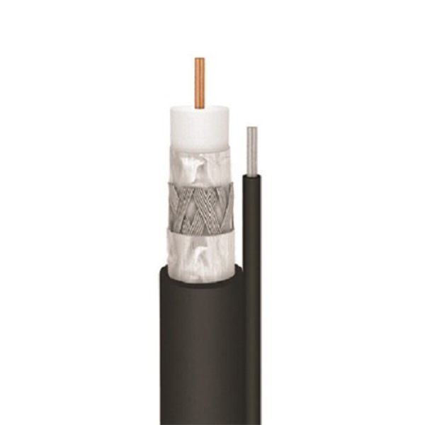 Cable, RG11, Solid Copper, Single, with Ground, 1000', Black