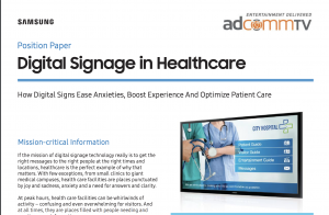 View of first page of Position Paper Digital Signage in Healthcare