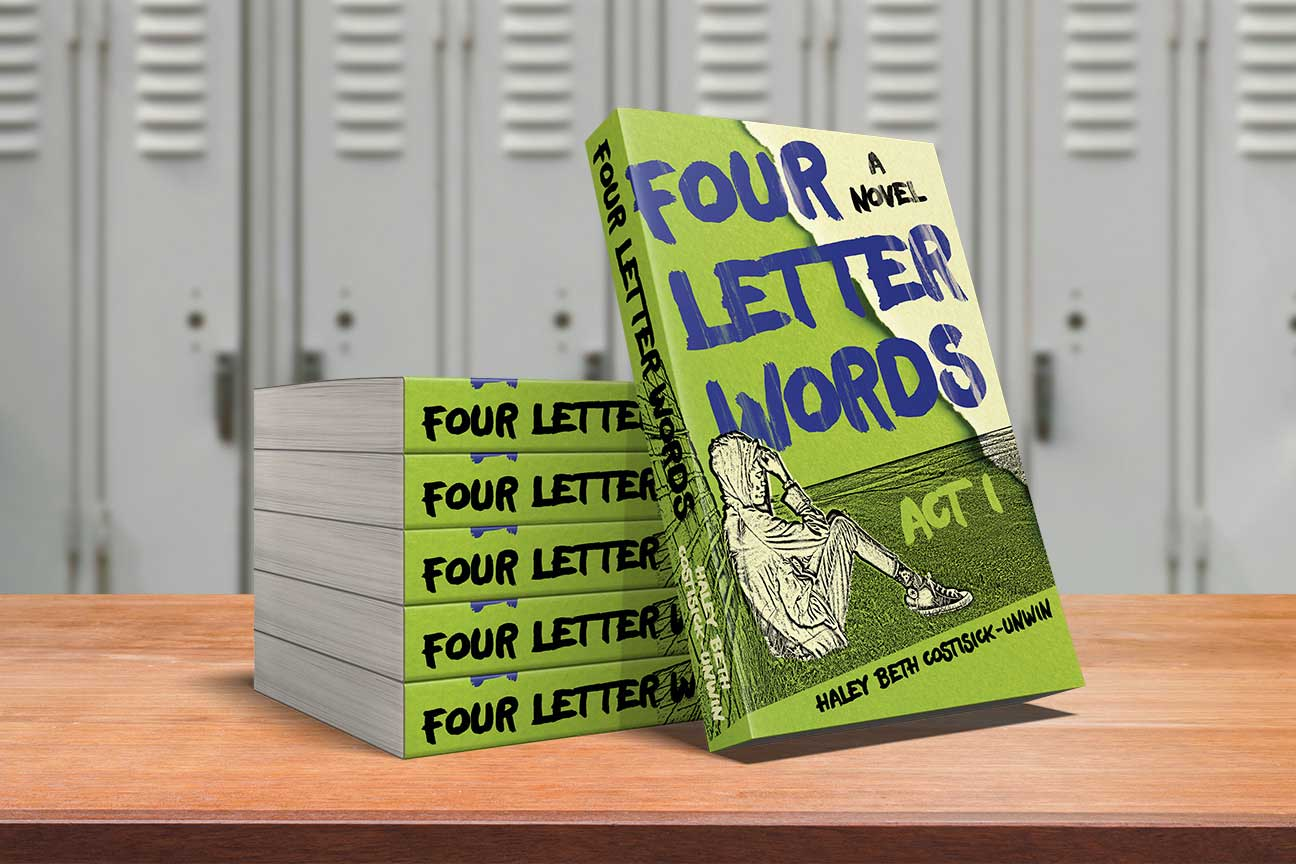 book cover for four letter words