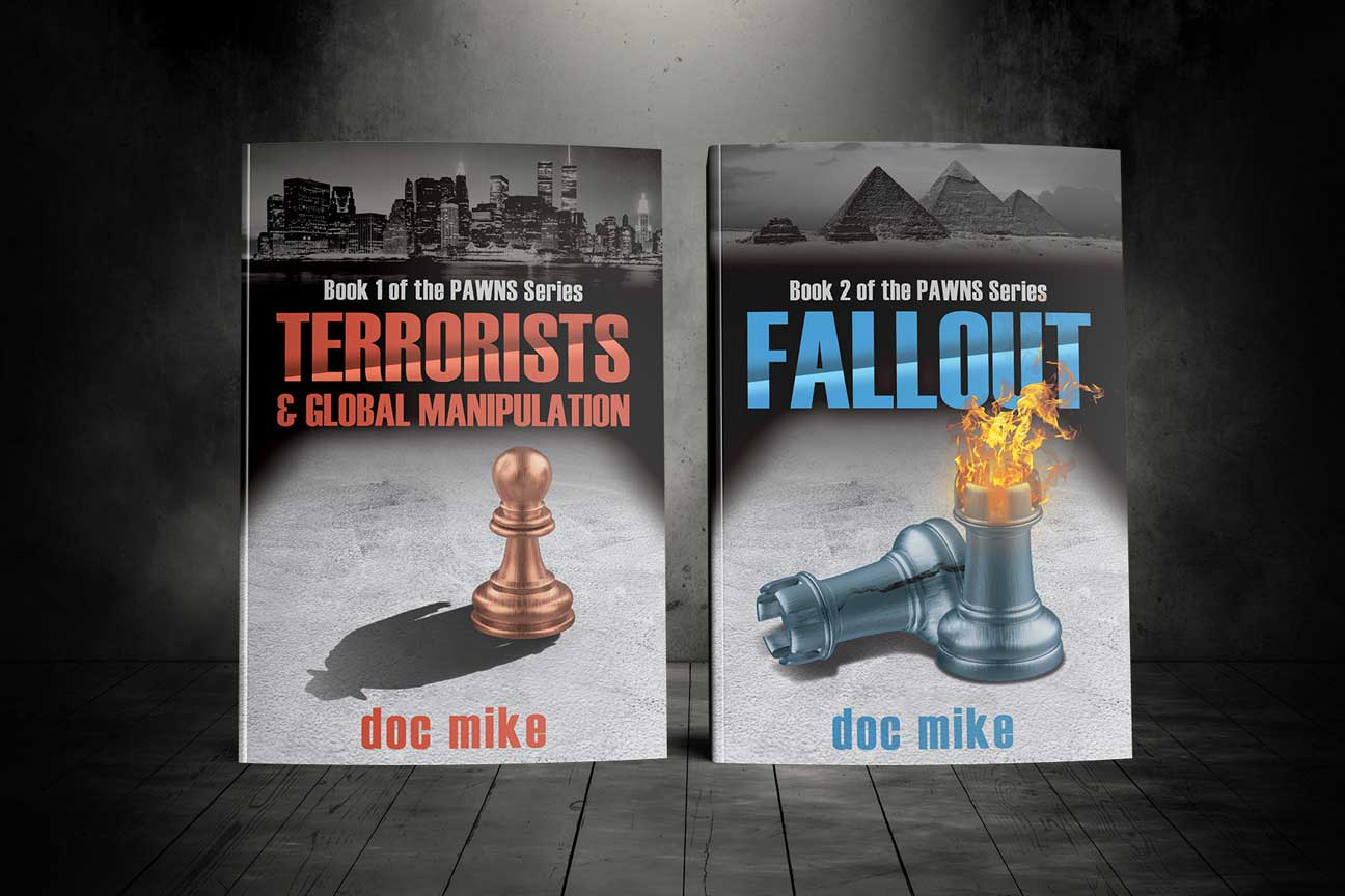 book covers for terrorists & global manipulation and fallout