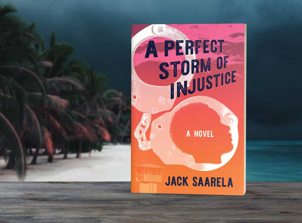 book cover for a perfect storm of injustice
