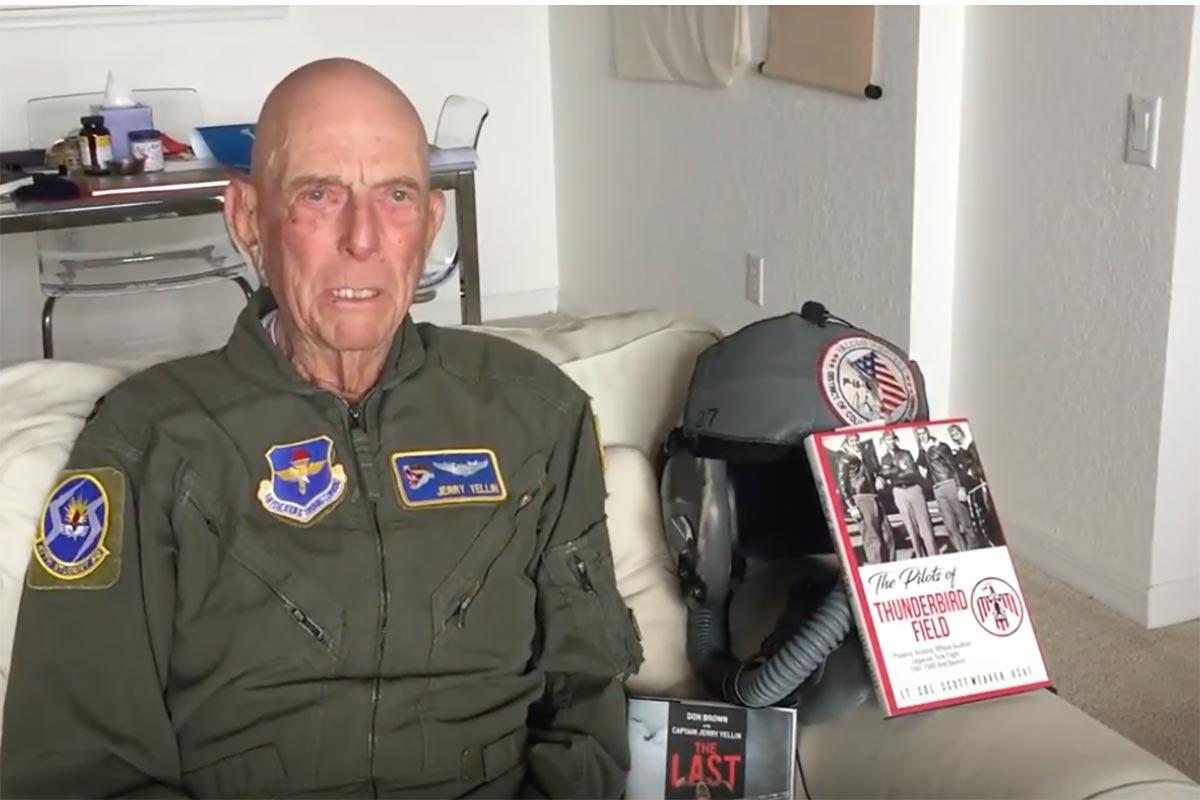 Cadet Jerry Yelling at Thunderbird II Scottsdale, AZ  1942-43  Part II