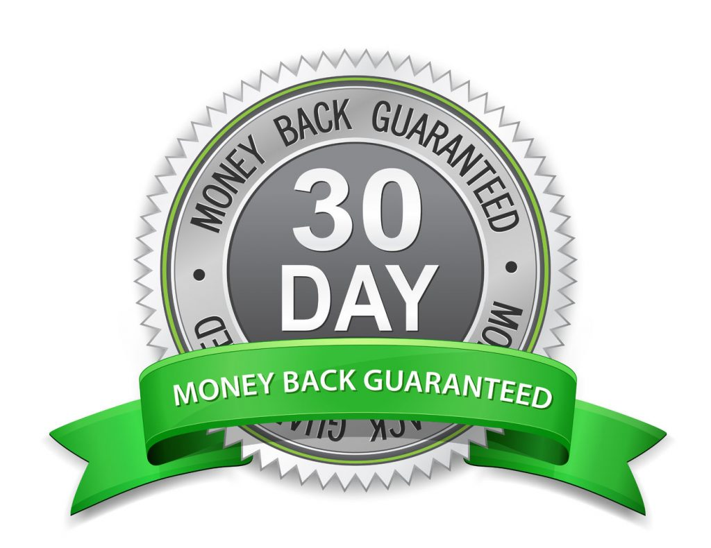 30 day money back guaranteed label satisfaction guaranteed