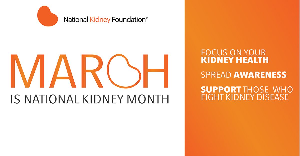 March is National Kidney Month. Image credit: Health & Wellmobile