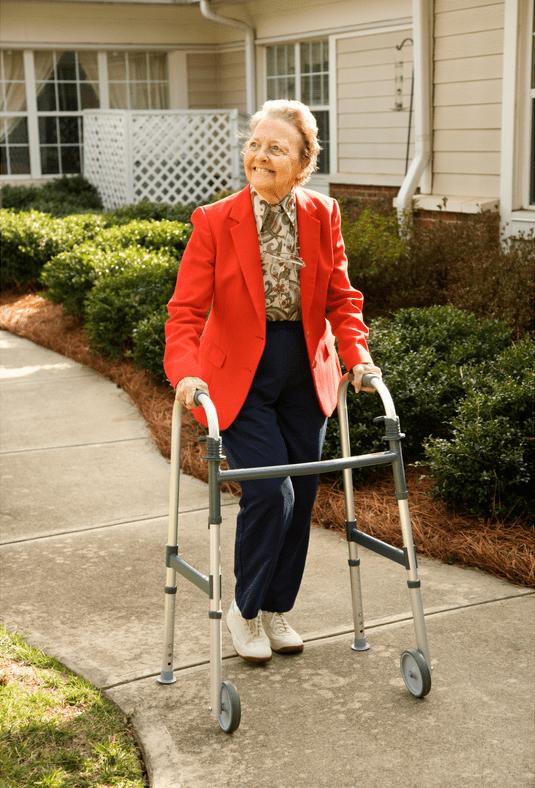 senior woman outside; elderly; summer heat tips
