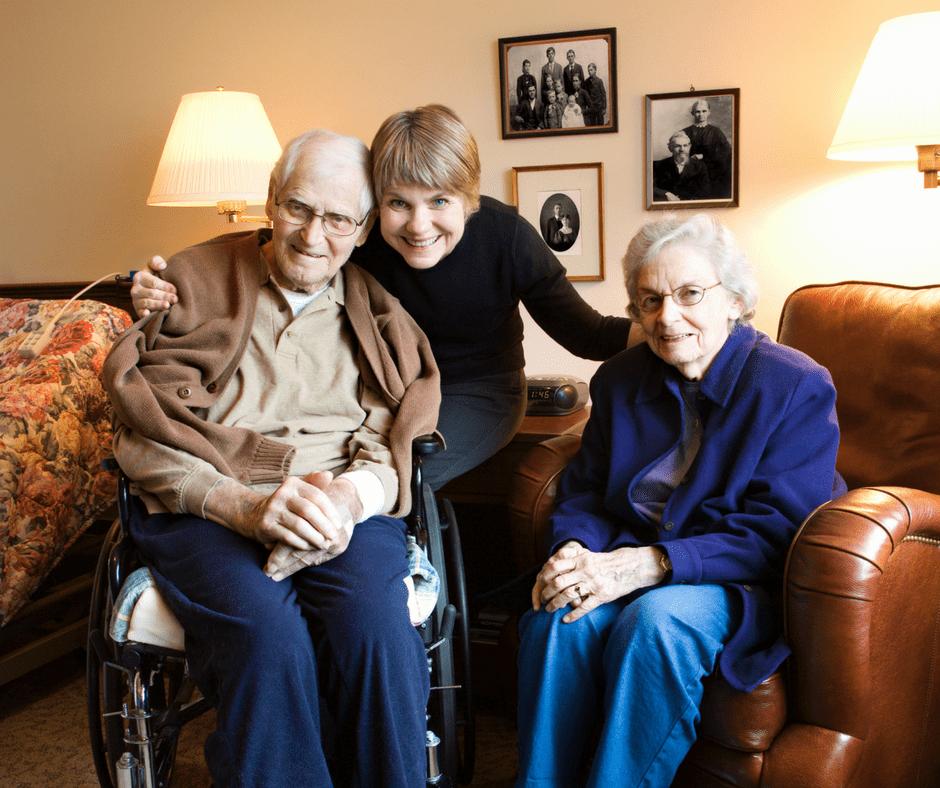 caregiver, seniors, elderly, home, family