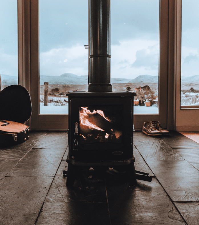 fireplace, wood stove, power out, winter