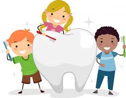 children dancing around a tooth