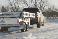 MOBISUN 1.0 Truck driving away