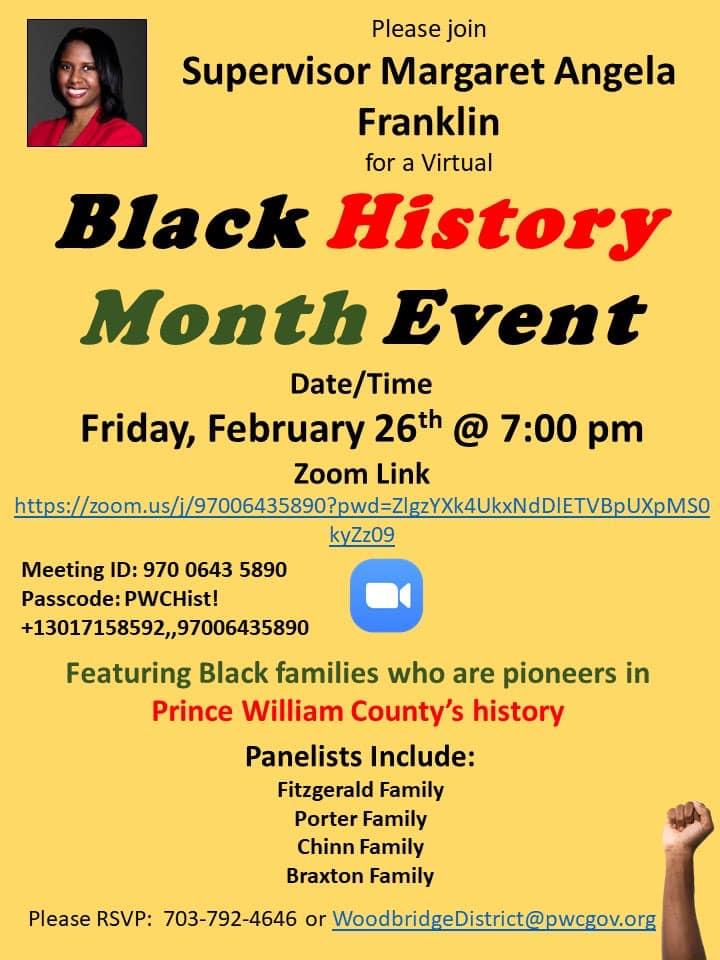 Black History Month Event With Supervisor Margaret Angela Franklin