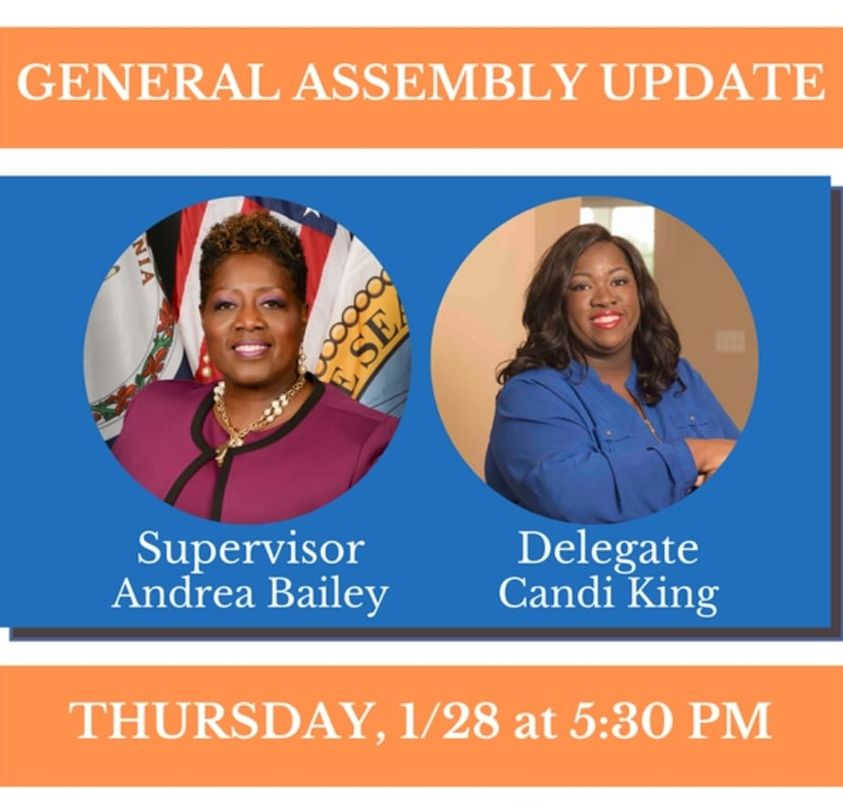2021 General Assembly Update with Supervisor Bailey and Delegate Cadi King