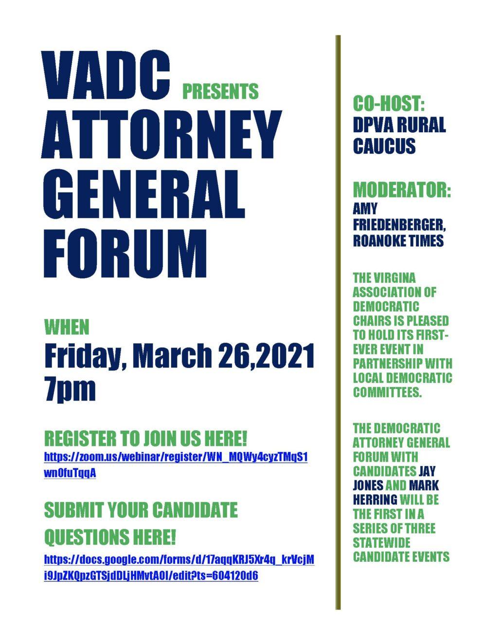 2021 VADC Attorney General Forum