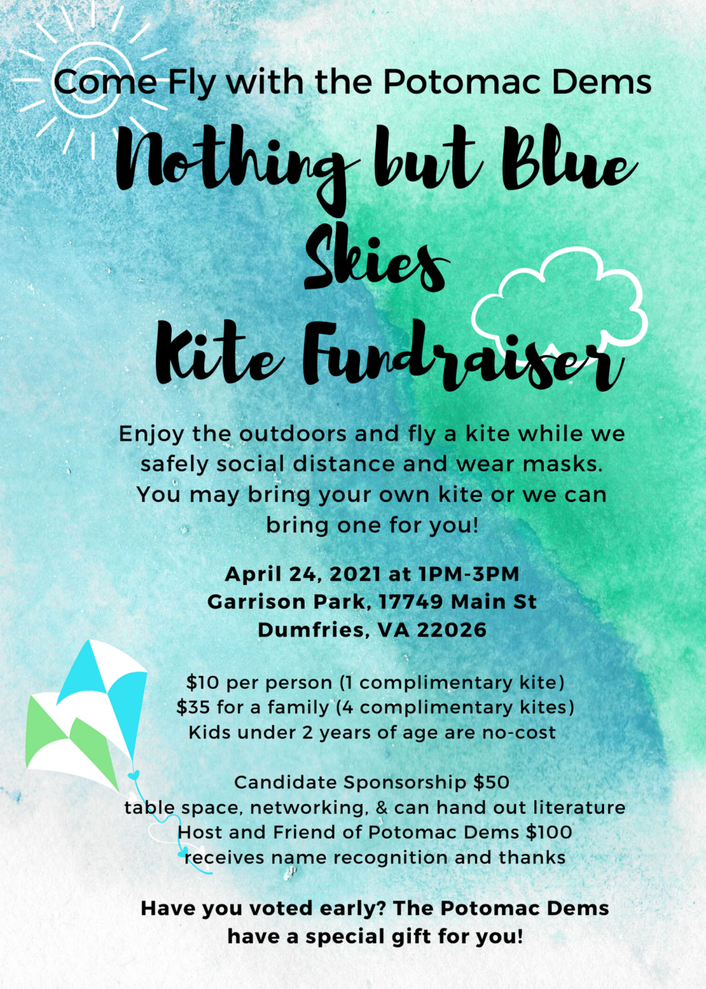 Potomac Nothing But Blue Skies Kite Fundraiser