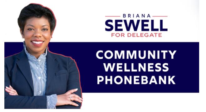 Briana Sewell Community Wellness Phonebank