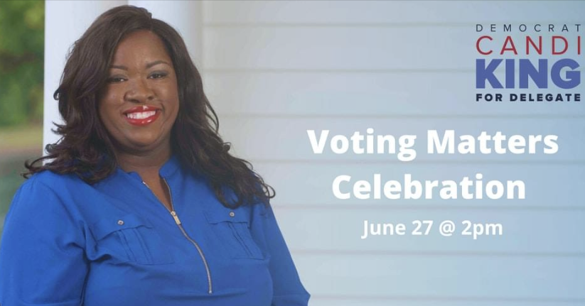 Candi King Voting Matters Celebration